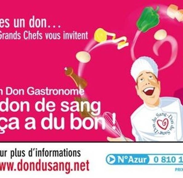 Don du sang gastronome: objectif 100 poches